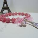 I Love Paris, Ékszer, Karkötő, Ez a karkő azoknak készült akik imádják Párizs! Gyönyörű rózsaszín Jáde golyóból (8mm)..., Meska