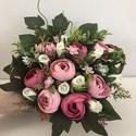 Tavaszi kosár anyák napjára,  Kb 25-28 cm átmérőjű tavaszi kosár, rózsasz...