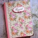 Rózsaszín-zöld rózsás receptkönyv - RENDELHETŐ, A képen látható receptkönyv már elkelt, de ha...
