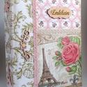 Vintage rózsás Párizs fotóalbum, nagyméretű, RENDELHETŐ, Naptár, képeslap, album, Dekoráció, Fotóalbum, A képen látható fotóalbum már elkelt, de hasonlót tudsz rendelni! :) 3-4 nap alatt készítem ..., Meska