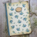 Nefelejcs mintás vintage napló, receptkönyv, emlékkönyv, vendégkönyv - RENDELHETŐ, A képen látható csodaszép napló/receptkönyv ...