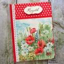 Pipacsmező receptkönyv - RENDELHETŐ, A képeken szereplő csodaszép pipacsos receptkö...
