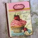 Bordó-rózsaszín muffinos receptkönyv - RENDELHETŐ, A képen látható receptkönyv már elkelt, de ha...