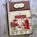 Virágos vintage konyha receptkönyv (barna) - RENDELHETŐ, A képen látható szépséges receptkönyv már e...