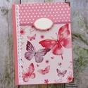 Rózsaszín pillangós napló, emlékkönyv - RENDELHETŐ, A képen látható csodaszép napló már elkelt, ...