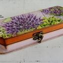 Levendulás tolltartó, Erzsi részére LEFOGLALVA!!!, Ezt a gyönyörű, levendula mintás tolltartót E...