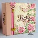 Eljegyzési/esküvői fotóalbum romantikus virágmintával, Niki részére LEFOGLALVA!, Ezt a gyönyörű fotóalbumot Niki egyedi megrend...