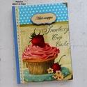 Muffin mintás receptkönyv, kék, Eszter részére LEFOGLALVA!, Ezt a csodaszép receptkönyvet Eszter megrendelé...