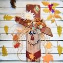 Madárijesztő, őszi dekoráció, fali decor