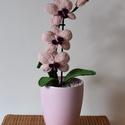 Rózsaszín Horgolt Orchidea, Dekoráció, Otthon, lakberendezés, Horgolás, Örök Orchidea. Soha el nem hervadó, horgolt gyönyörűség. Igazi dísze lehet a lakásnak. Kérésre bárm..., Meska