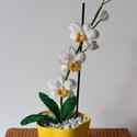 Fehér Horgolt Orchidea, Dekoráció, Otthon, lakberendezés, Horgolás, Örök Orchidea. Soha el nem hervadó, horgolt gyönyörűség. Igazi dísze lehet a lakásnak. Kérésre bárm..., Meska