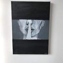 Titok-Festmény , Otthon & lakás, Dekoráció, Kép, Festészet, Kép címe: Titok Saját készítésű Akril festmény Vászonra 20x30cm, Meska