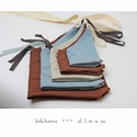 legnagyobbtól a legkisebbig, Táska, Szatyor, Varrás, TERMÉKISMERTETŐ:  Ezen a képen 5 különböző méretű textilzsákot látsz. A 'japán bento' továbbfejlesz..., Meska