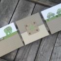 Zöld-beige falikép kollekció babaszobába, gyerekszobába, Baba-mama-gyerek, Dekoráció, Gyerekszoba, Ajtódísz, kopogtató, Zöld-beige vidám kisfiús falikép kollekciót, babaszoba dekorációt készítettünk.  A képen látható tri..., Meska