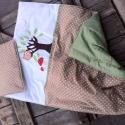 BAGOLY erdei  babatakaró+ párna, Baba-mama-gyerek, Ágynemű, Gyerekszoba, Varrás, Vidám bagoly mintás erdei babatakarót, párnát és ágyneműt készítettünk kisbabád számára. A babataka..., Meska