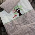 BAGLYOS ágynemű - beige-fehér - takaró+párna, Baba-mama-gyerek, Gyerekszoba, Falvédő, takaró, Festett tárgyak, Mindenmás, Egyedi, különféle vidám, színes textilekből készített, applikációkkal ellátott baba- gyerektakaró é..., Meska