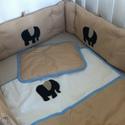 Farmer elefánt ágynemű - takaró+párna, Baba-mama-gyerek, Gyerekszoba, Falvédő, takaró, Egyedi, különféle vidám, színes textilekből készített, applikációkkal ellátott baba- gyer..., Meska