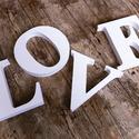 LOVE felirat, egyedi beltéri dekorációs elem, Dekoráció, Baba-mama-gyerek, Falmatrica, Gyerekszoba, Festett tárgyak, Mindenmás, Egyedileg festett, díszített polisztirol habbetűk készítünk igény szerinti színvilág, egyéni/egyedi..., Meska