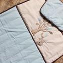 RÓKA jóbarátok ágynemű - takaró+párna, Baba-mama-gyerek, Gyerekszoba, Falvédő, takaró, Egyedi, különféle vidám, színes textilekből készített, applikációkkal ellátott baba- gyerektakaró és..., Meska