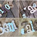 Egyedi név felirat egyben - 4  betűs név esetén, Dekoráció, Baba-mama-gyerek, Gyerekszoba, Festett tárgyak, Mindenmás, Egyedileg díszített polisztirol habbetűk készítünk igény szerinti színvilág, egyéni/egyedi stílus j..., Meska