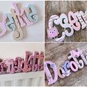 Név felirat - 6 betű, Dekoráció, Baba-mama-gyerek, Gyerekszoba, Egyedileg díszített polisztirol habbetűk készítünk igény szerinti színvilág, egyéni/egyedi stílus je..., Meska