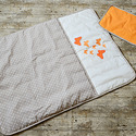 Egyedi PILLANGÓS - applikált ágynemű - takaró+párna, Baba-mama-gyerek, Gyerekszoba, Falvédő, takaró, Festett tárgyak, Mindenmás, Egyedi, különféle vidám, színes textilekből készített, applikációkkal ellátott baba- gyerektakaró é..., Meska