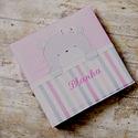 Kicsilány MACKÓ fotóalbum - rózsaszín, Baba-mama-gyerek, Naptár, képeslap, album, Gyerekszoba, Fotóalbum, Varrás, Vidám, színes és igazi kislányos fotóalbumot, babaalbumot készítettünk.      Igény szerint úgy kész..., Meska