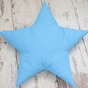 Csillag párna - egyedileg készült párna, Baba-mama-gyerek, Otthon, lakberendezés, Lakástextil, Párna, Varrás, Hímzés, Vidám, egyedi csillag formájú párnát készítettünk,igazi kisfiús szobába illő textilekkel.  Az alapá..., Meska