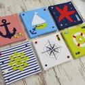 TENGERÉSZ falikép kollekció babaszobába, gyerekszobába, Baba-mama-gyerek, Dekoráció, Gyerekszoba, Baba falikép, Mindenmás, Zöld-fehér-kék-piros színvilágú, tengerészes vidám falikép kollekciót, babaszoba dekorációt készíte..., Meska