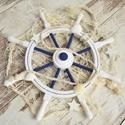 Fa hajó kormány kerék - fali dekoráció, Baba-mama-gyerek, Otthon, lakberendezés, Dekoráció, Falióra, Mindenmás, Egyedi dekorált hajókormányt készítettünk, hogy gyermeked falának, vagy otthonodnak dísze lehessen...., Meska