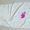 Babapléd - ELEFÁNT + név, Baba-mama-gyerek, Gyerekszoba, Falvédő, takaró, Varrás, Egyedi, különféle vidám, színes textilekből készített, applikációkkal ellátott baba- gyerekpléd. Fi..., Meska