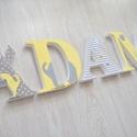 BETŰK, BABABETŰK - Ádám style (567.), Otthon & lakás, Gyerek & játék, Dekoráció, Gyerekszoba, Egyedileg díszített polisztirol habbetűket kínálunk baba- és gyerekszobába.   A feltüntetett ár 1 db..., Meska