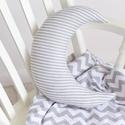 Nagy Hold párna - Happy Pillows , Gyerek & játék, Otthon & lakás, Lakberendezés, Lakástextil, Párna, Vidám, egyedi hold formájú párnát készítettünk. Remek kiegészítője a gyerekszobának.  A mérete kb: 3..., Meska