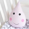 Esőcsepp - Happy Pillows , Baba-mama-gyerek, Otthon, lakberendezés, Lakástextil, Párna, Vidám, egyedi esőcsepp formájú párnát készítettünk. Remek kiegészítője a gyerekszobának.  A mérete k..., Meska