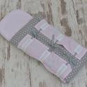 BABAPÓLYA - rózsaszín/szürke, csillagos (130.), Baba-mama-gyerek, Otthon, lakberendezés, Lakástextil, Egyedi mintájú pólyát kínálunk kisbabád számára.  Pólya felépítése: -anyaga: 100% pamut -töltete: ..., Meska