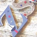BETŰK, BABABETŰK - Zsombi style (283.), Dekoráció, Baba-mama-gyerek, Gyerekszoba, Egyedileg díszített polisztirol habbetűket kínálunk baba- és gyerekszobába.   A feltüntetett ár 1 db..., Meska