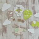 HŐLÉGBALLON SZETT/falidekor -repülős (851.), Gyerek & játék, Otthon & lakás, Gyerekszoba, Baba falikép, Dekoráció, Vidám színvilágú hőlégballon kollekciót kínálunk baba - gyermekszoba faldekorációnak.  Hőlégballon s..., Meska