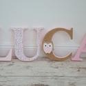 BETŰK, BABABETŰK - Luca style (198.), Otthon & lakás, Gyerek & játék, Dekoráció, Gyerekszoba, Egyedileg díszített polisztirol habbetűket kínálunk baba- és gyerekszobába.   A feltüntetett ár 1 db..., Meska