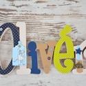 BETŰK, BABABETŰK - 6 betűs név (1500 Ft/betű), Dekoráció, Baba-mama-gyerek, Gyerekszoba, Egyedileg díszített írott betűket, polisztirol habbetűket kínálunk baba- és gyerekszobába.  Kezdőbet..., Meska
