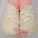 BABA – MAMA SZOPIPÁRNA - rózsaszín/sárga kis virágos (965.), Baba-mama-gyerek, Otthon, lakberendezés, Lakástextil, Párna, Kényelmes párna a babának és a mamának. A terhesség utolsó időszakában a kismama kényelmesebb és kom..., Meska