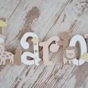 BETŰK, BABABETŰK - 6 betűs név (1500 Ft/betű), Dekoráció, Baba-mama-gyerek, Gyerekszoba, Egyedileg díszített írott betűket, polisztirol habbetűket kínálunk otthonodba.   Kezdőbetű magassága..., Meska