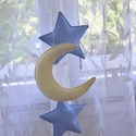 CSILLAG - hold FÜZÉR , Dekoráció, Baba-mama-gyerek, Gyerekszoba, Különleges, izgalmas és hangulatos dísze lehet ez a csillagfüzér gyermeked szobájának.   Csi..., Meska