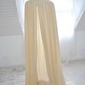 BALDACHIN/hercegnőbaldachin - beige, Gyerek & játék, Otthon & lakás, Gyerekszoba, Dekoráció, Felépítése: -anyaga: szatén chiffon  Méretei: kb. 50cm megkötő, 50 cm kupola, és 2 méter hosszú le..., Meska
