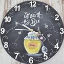 'Honey' témájú falióra By NoaNoa, Dekoráció, Otthon, lakberendezés, Falióra, óra, Ezúttal egy 'Honey' témájú trendi faliórát készítettünk.Amely tökéletes lehet ajándékba..., Meska