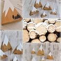 Havas hegycsúcsok!, Otthon, lakberendezés, Asztaldísz, Fából készült dekoráció a téli napokra , hogy feldobja hangulatunkat és otthonunk dísze leg..., Meska
