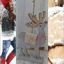 Vidám karácsonyi  szarvas! , Dekoráció, Ünnepi dekoráció, Kedves , karácsonyi szarvas dekorációt készítettünk számotokra !  Mérete:  40cm magas, Meska