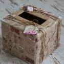 ESKÜVŐI pénzgyűjtő doboz , Esküvő, Meghívó, ültetőkártya, köszönőajándék, Esküvői dekoráció, Mindenmás, Különleges, egyedi esküvői pénzgyűjtő dobozt készítettünk. Csodás kiegészítője lehet esküvőnek.  Mé..., Meska