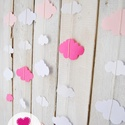 Papír girland - felhő, Dekoráció, A babaszoba egyik fala üres?  vagy... hiányzik valamilyen színes fali dísz a szobából? esetleg..., Meska