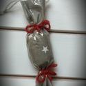Szaloncukor dekoráció, karácsonyfa dísz, Dekoráció, Ünnepi dekoráció, Karácsonyi, adventi apróságok, Karácsonyi dekoráció, Textilből, celofán bevonattal készítem ezeket a szaloncukrokat. Megrendelésre és egyedi igény, megbe..., Meska