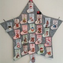 Adventi naptár csillag, Csillag alakú adventi naptárt készítettem telj...